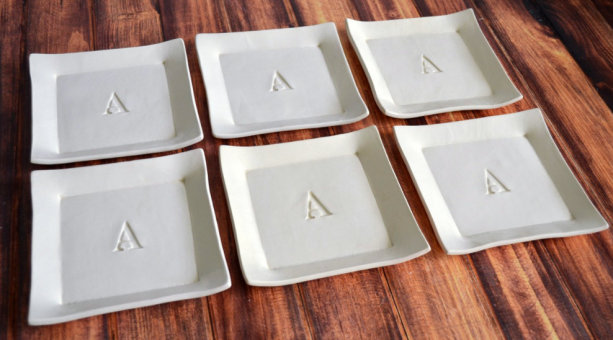 appetizer plate custom monogram wedding registry etsy omnirest 2