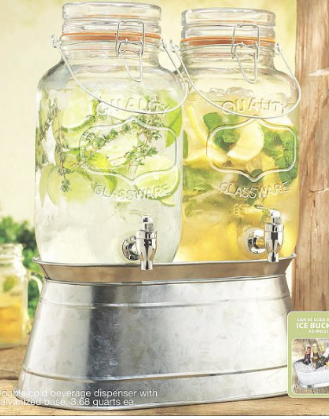 beverage dispenser amazon mason jar galvanized color