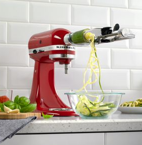 kitchen aid mixer attachment spiralizer corer peeler