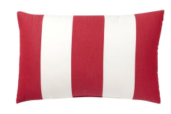 lumbar pottery barn indoor outdoor stripe pillow red